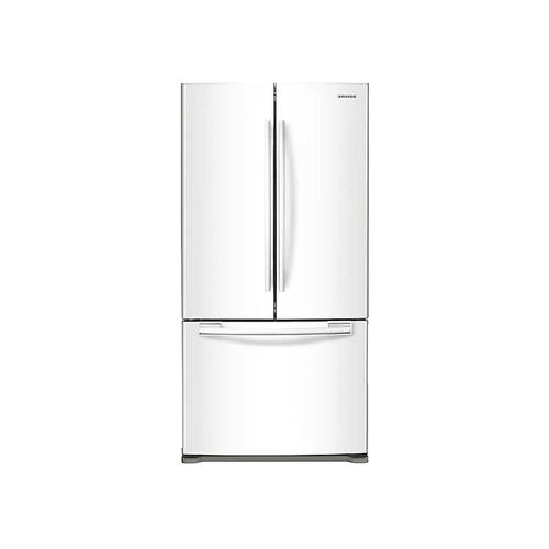 Samsung - 18 cu. ft. Counter Depth French Door Refrigerator in White
