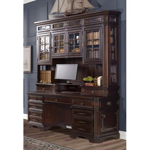 "75"" Credenza Desk with sliding top & storage"