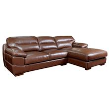 See Details - Jayson Chaise Sofa in Chestnut