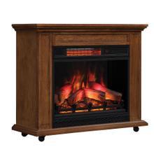 duraflame® Rolling Mantel with Infrared Quartz Electric Fireplace, Premium Oak