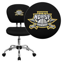 Northern Kentucky University Norses Embroidered Black Mesh Task Chair with Chrome Base