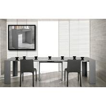 Modrest Morph - Modern Ultra-Compact Extendable Grey Gloss Dining Table