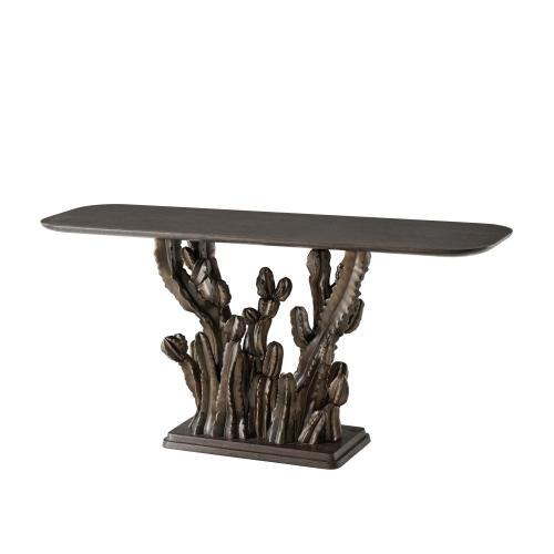 Theodore Alexander - Cactus Console Table II - Blackwood