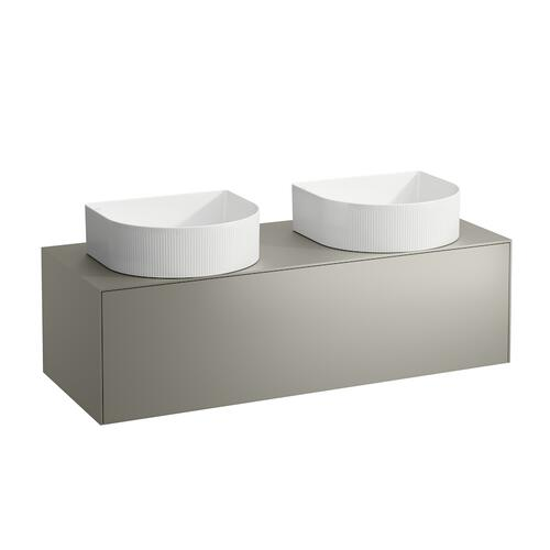 White Matte Drawer element, 1 drawer, matching bowl washbasins 812340, 812341, 812342, 812343, cut-outs left and right