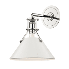 Wall Sconce - POLISHED NICKEL/OFF WHITE