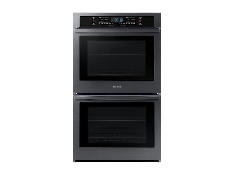 """Samsung30"""" Smart Double Wall Oven In Black Stainless Steel"""