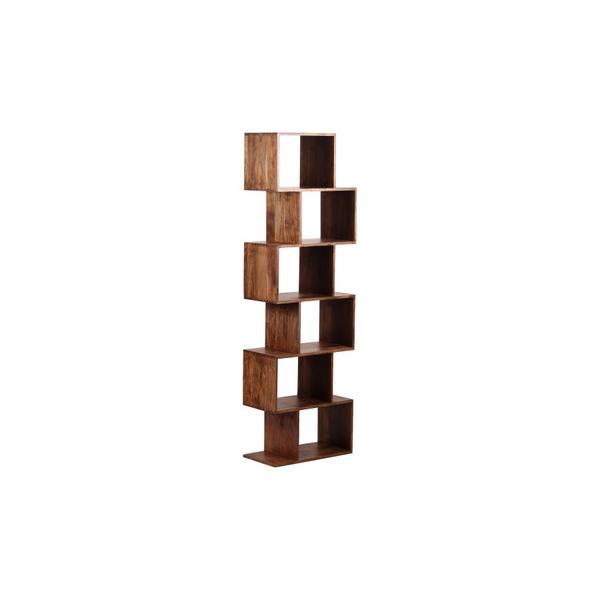 See Details - Portola Walnut 6 Cube Bookcase, 2001-1232WW
