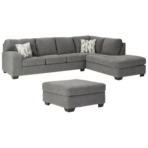 Ashley - 2-piece Sectional With Ottoman