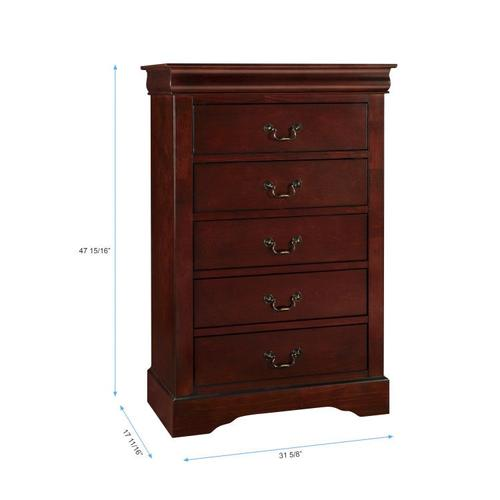 Lewiston Drawer Chest, Dark Cherry Brown