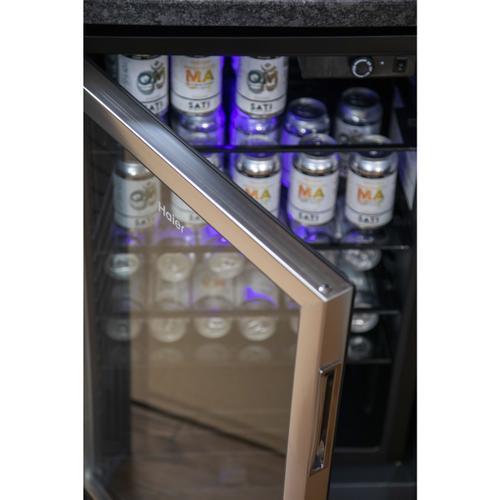 Haier - 150-Can Beverage Center