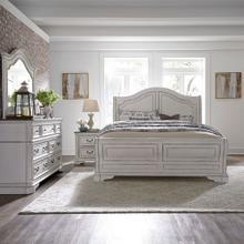 See Details - Queen Sleigh Bed, Dresser & Mirror, Night Stand