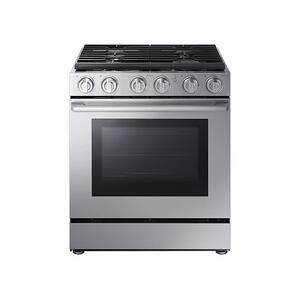 "Samsung5.8 cu. ft. 30"" Chef Collection Professional Gas Range with Dual Convection in Stainless Steel"