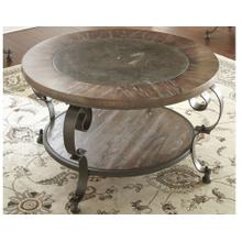 Mulberry Round Blue Stone Cocktail Table