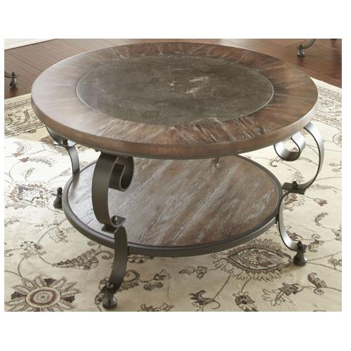 Gallery - Mulberry Round Blue Stone Cocktail Table