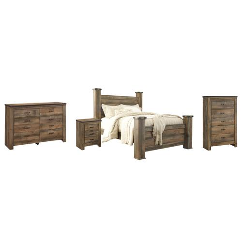 Ashley - Queen Poster Bed With Dresser, Chest and Nightstand