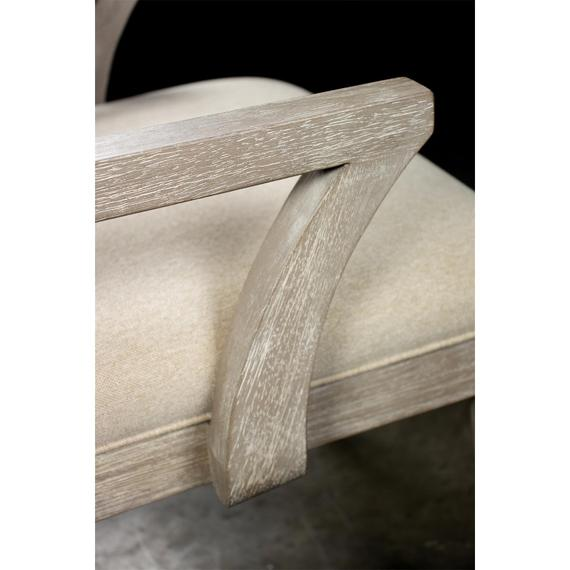 Riverside - Cascade - Upholstered Wood Back Arm Chair - Dovetail Finish