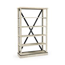 See Details - Whitewash Driftwood Étagère or Bookcase