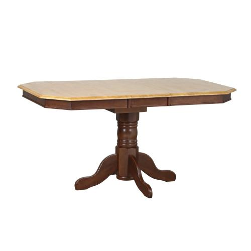 Pedestal Extendable Dining Set w/Arrowback Chairs (5 Piece)