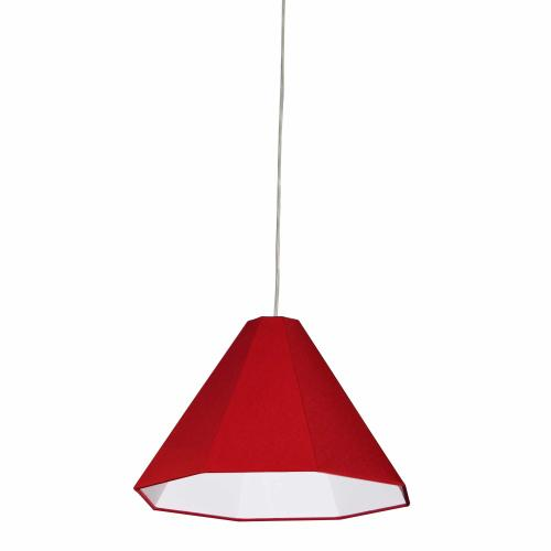 Product Image - 1lt Pendant, Polished Chrome With Red Shade