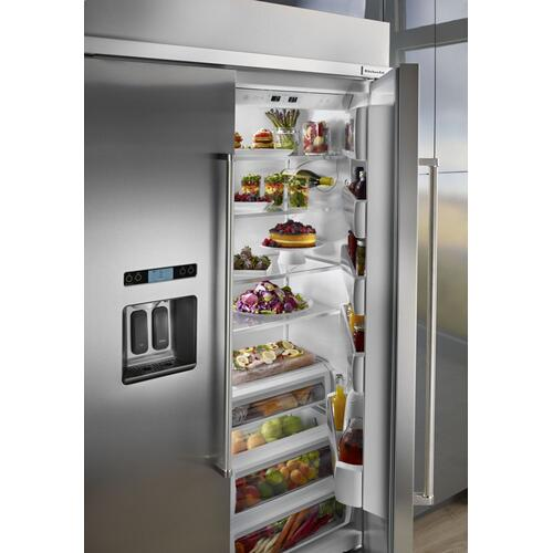 48-Inch width built-in side by side refrigerator with printscield™ finish - Stainless Steel with PrintShield™ Finish