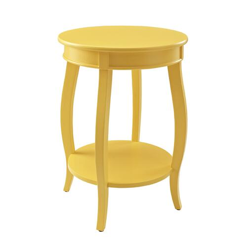 Round Lower Shelf Table, Yellow
