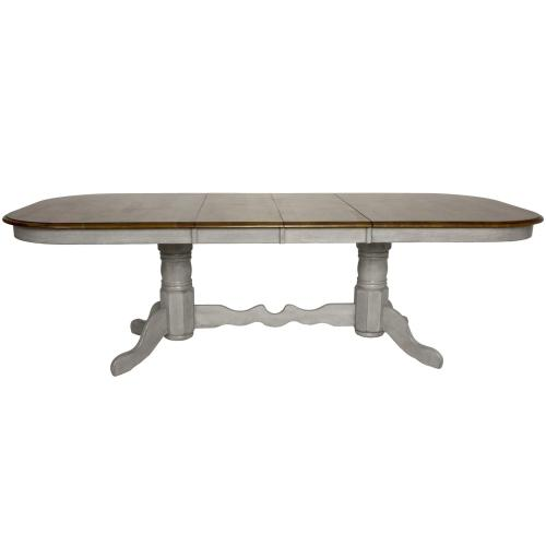 Double Pedestal Extendable Dining Table Set - Country Grove (8 Piece)