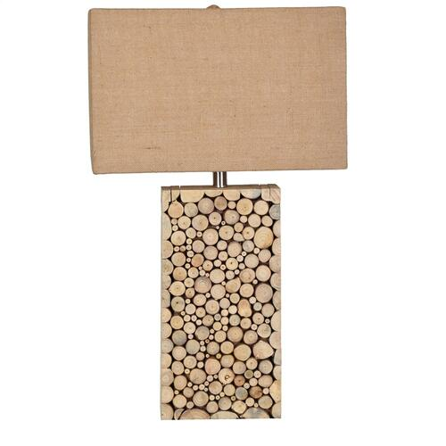 Product Image - Stacked Wood Table Lamp