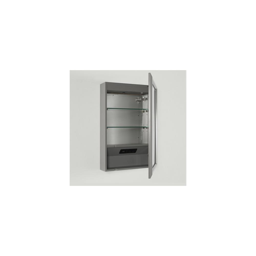 """Revival 20"""" Medicine Cabinet-right - Glossy Medium Gray"""