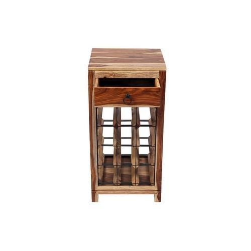 Porter International Designs - Sheesham Accents Wine Rack, PDU-14
