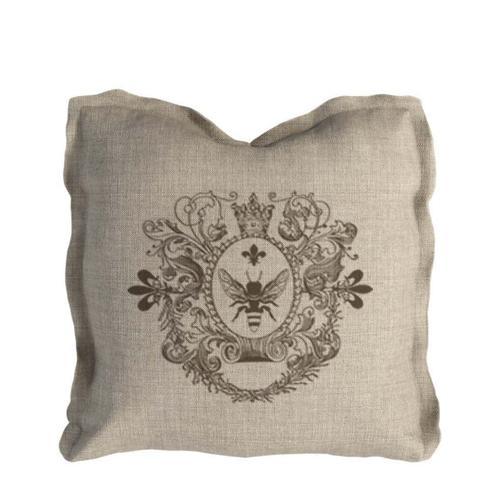 Curations Limited - Logo Pillow Beige Linen