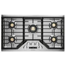 """View Product - Monogram 36"""" Smart Deep-Recessed Gas Cooktop (Natural Gas)"""