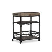 2-shelf and 4 Caster Wheels Bar Cart, Weathered Driftwood