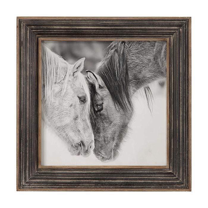 Uttermost - Custom Black and White Horses Framed Print