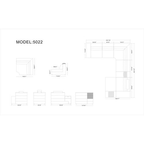 Divani Casa Polaris - Bonded Leather Sectional Sofa in Brown