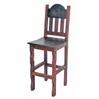 See Details - Red Scraped Wood Seat