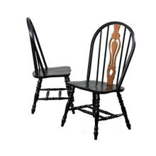 DLU-124-S-AB-2  Keyhole Dining Chair  Antique Black
