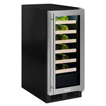 15-In Built-In High Efficiency Single Zone Wine Refrigerator with Door Style - Stainless Steel Frame Glass, Door Swing - Right