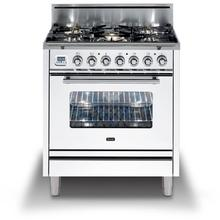 Professional Plus 30 Inch Gas Liquid Propane Freestanding Range in White with Chrome Trim