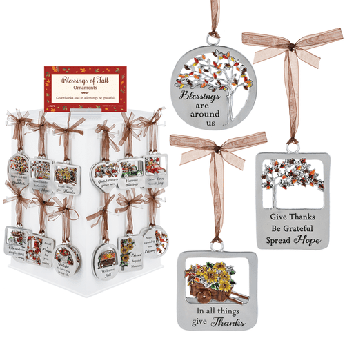 Blessings of Fall Ornaments Assortment with Display (48 pc. assortment)