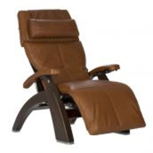 Human Touch - Perfect Chair ® PC-610 Omni-Motion Classic - Dark Walnut - Cognac Premium Leather