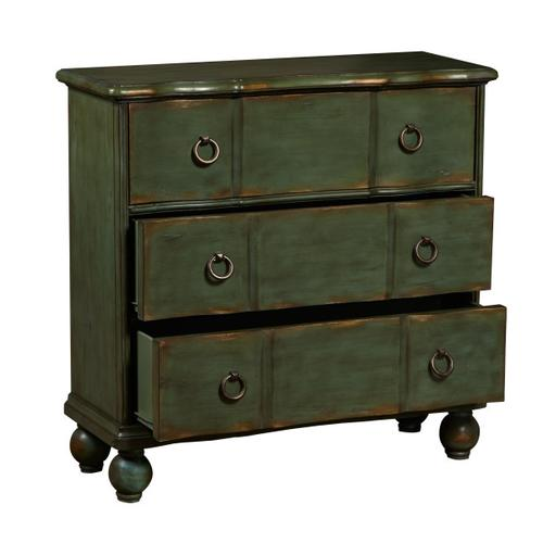 Teal Green Distressed 3 Drawer Chest
