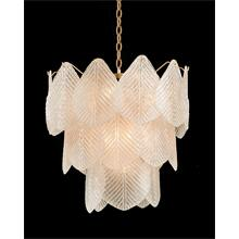 Frosted Glass Nine-Light Chandelier