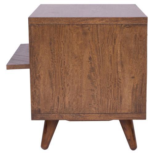 Piero KD Chevron Night Stand/ Side Table, Monterey