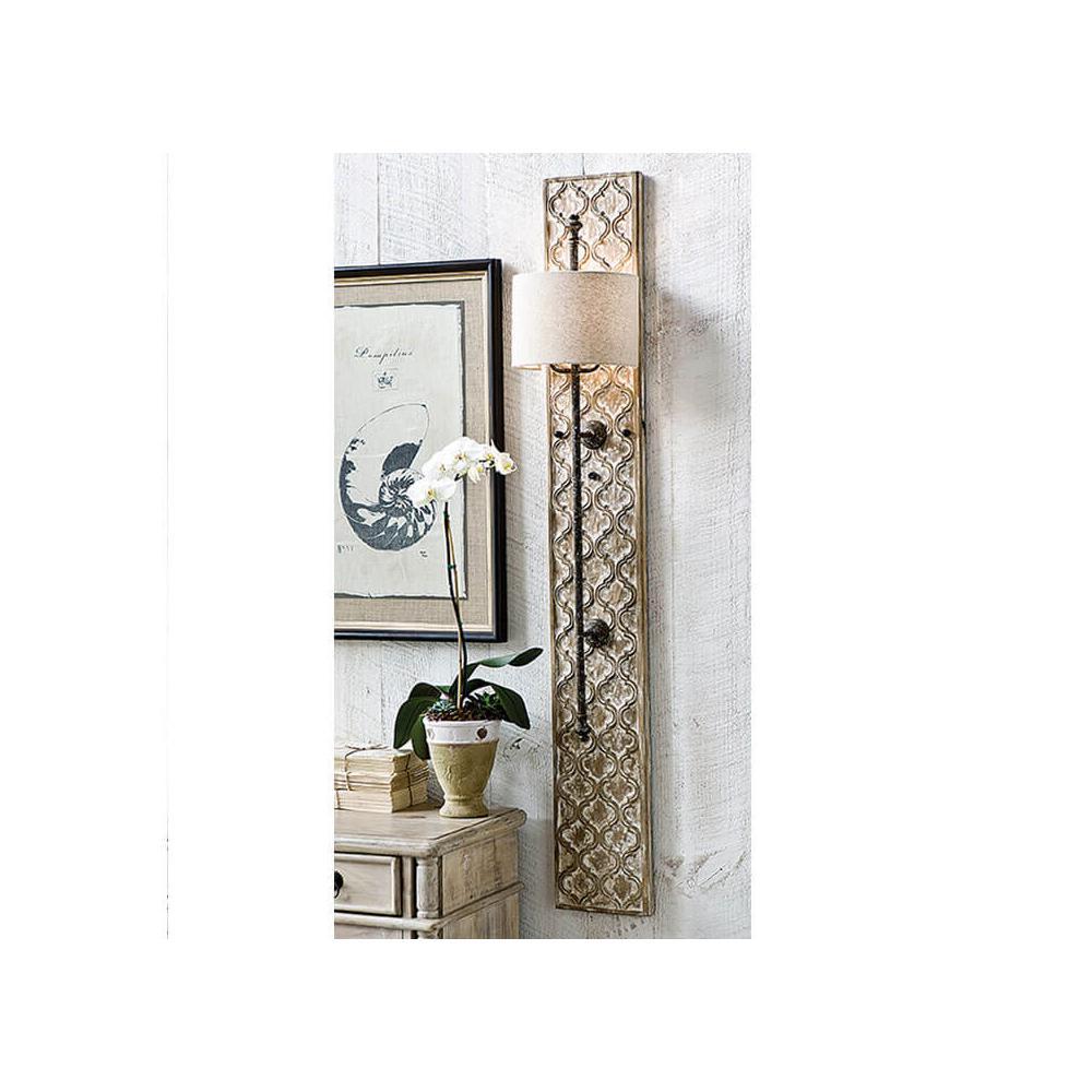 See Details - Carved Panel Sconce