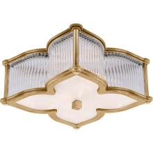Visual Comfort AH4018NB/CG-FG Alexa Hampton Lana 2 Light 15 inch Natural Brass with Clear Glass Flush Mount Ceiling Light