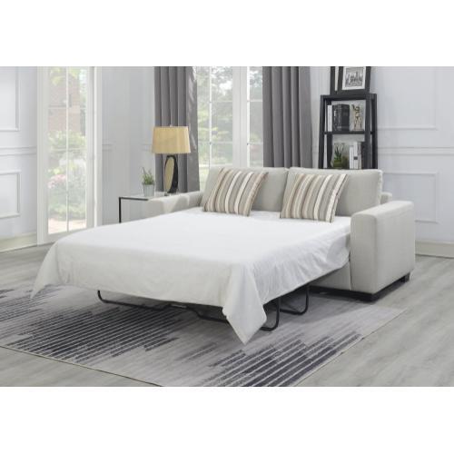 Emerald Home Senegal Sleeper Sofa U3524-50-09, Ashen Tan