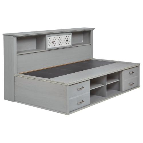 Arcella Twin Bookcase Bed