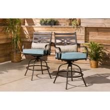 See Details - Hanover Montclair High-Dining Counter-Height Swivel Chairs, Set of 2, in Ocean Blue, 11200-2SWBR-BLUSL