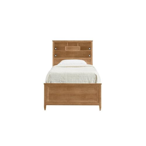 Chelsea Square French Toast Twin Bookcase Bed