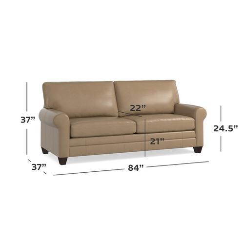 Gallery - Carolina Leather Sock Arm Sofa